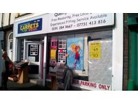 CARPETS & BEDS, BEST PRCES AROUND, Full House Deal £490 70 sqyd of carpet, 8mm u\lay acc. and fitted