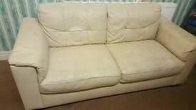 Leather sofa large
