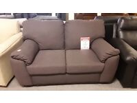 BROWN FABRIC 2 SEATER SOFA DELIVERY AVAILABLE