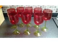8 Christmas Wine Glasses from John Lewis