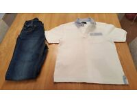 Aged 10 yrs Fred Perry Polo Shirt and Timberland Jeans for sale.