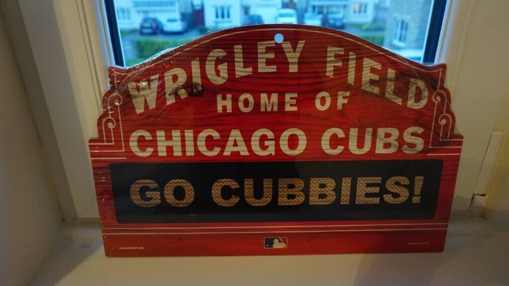 Wooden Wrigley Field Sign Chicago Cubs Official Mlb Merchandise Original Packaging In Stirling Gumtree