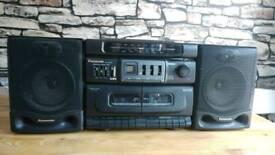 RETRO Panasonic RX-DT530 CD radio tape stereo Getto blaster