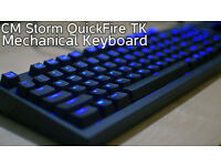 [BRAND NEW] Cooler Master Quickfire TK mechanical keyboard UK Layout, Cherry MX Blue, LED