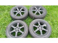 "15"" Subaru Impreza Alloy Wheels and tyres 5x100"
