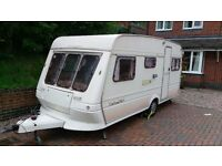 1991 FLEETWOOD GARLAND 148/5 BERTH FULL AWNING CARAVAN