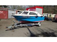 shetland 536 with trailer plus 65hp suzuki outboard