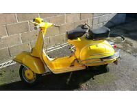 1969 VESPA DOUGLAS 125CC YELLOW - PROJECT ALMOST COMPLETE
