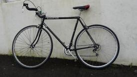 Black Eclipse Road Bike - Reynolds 531c Steel Frame - Bullhorn Bars - Fully Serviced - 55cm