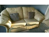 2 seater and large 2/3 seater leather sofas