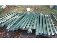 Used garden fence posts