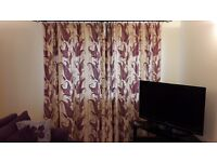 2 x pairs full length lined curtains L82in W76in