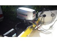 Mariner 30HP outboard Engine Electric Start with remotes and tank,Long Shaft
