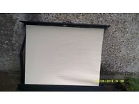 A PORTABLE VIEWING SCREEN for YOUR HOME MOVIES 8 mm and 16 mm etc FOLDS INTO a BOX