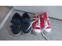 2 pairs of toddler boys shoes