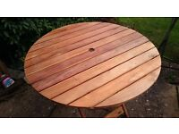 Round Teak Patio Table - 36in Wide