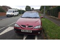 Renault Megane for sale for £250. First owner car very powerful engine. Need to go asap.