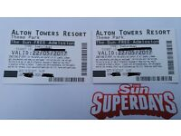 Alton towers tickets 22/05/2017