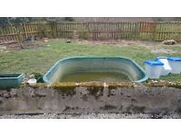 Fibreglass pond free to uplift