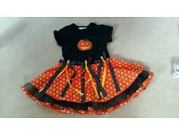 Girls pumpkin dress age 2
