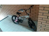 Silver bmx style kids bike. Suit 8/ 9 year old