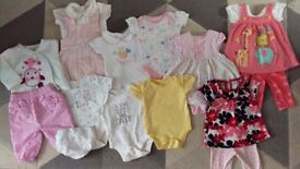 Baby girl 0-3 bundle, bodysuits, outfits
