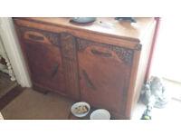 solid oak dresser VGC