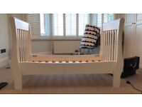 LITTLE WHITE COMPANY SLEIGH COT BED FOR SALE WHITE