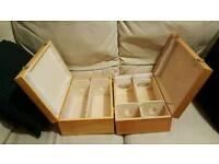 3X OAK WINE BOXES FROM FORTNUM & MASON
