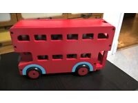 big red bus Habitat Melissa and Doug toolsand bench wooden train F1 car job lot wooden toys