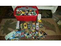 Large job lot of lego including instruction books and 60 figures