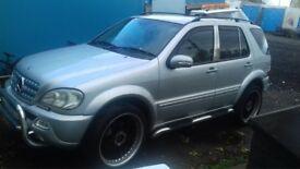 ML MERCEDES JEEP Auto Silver GAS CONVERTED Full AMG kit, towbar
