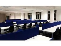 CALL CENTRE - BRAND NEW - WHITE DESKS / BLUE SCREENS - 80 POSITIONS