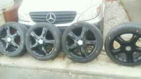 Mercedes alloys 19 inch plus tyres