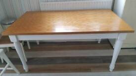 Oak top dining table from Next