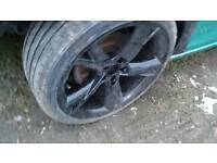 "Genuine 2007-2013 19"" audi a4 a5 y spoke black alloys + new haida tyres Clean condition"