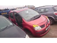 2004 RENAULT MODUS DYNAMIQUE DCI 80, 1.5 DIESEL,BREAKING FOR PARTS ONLY,POSTAGE AVAILABLE NATIONWIDE