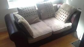 Half leather sofas from DFS