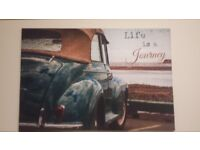 Two Large Picture Canvas's with Sayings W118xH80xD3cm