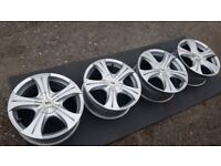 """17"""" alloy wheels (5x100 & 5x114.3) chrysler seat skoda subaru toyota volkswagen"""