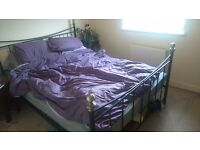 Double bed and mattress for sale - ��85