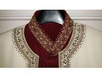 Sleek wedding sherwani
