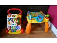 Baby walker and play table