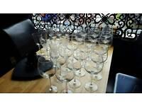 33 wine glasses