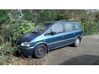 Vauzhall Zafira selling for scrap or repair - has NEW CLUTCH, tyres and bodywork in lovely condition