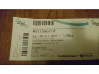 HelloWorld YouTuber Tickets Birmingham 28th October 2017 Standing & Main Street