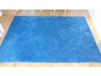 Blue ikea rug 133x 195 cms excellent condition