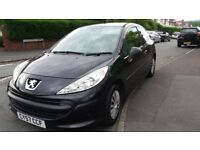 Peugeot 207 1.4 Diesel 57reg 07.Black.Full mot,Cheap Tax.Aircon,2 Lady owners,HPI clear,Clean Cond.