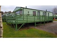 A practical and great value holiday home for sale with decking