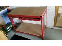 Workbench with large drawer